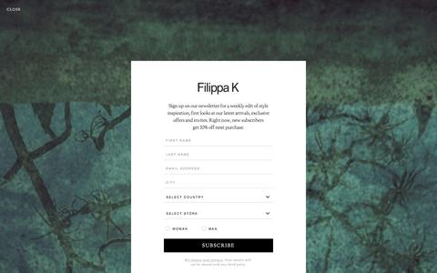 Screenshot of Signup Page filippa-k.com - Newsletter - Sign Up - Filippa K - captured Oct. 13, 2017
