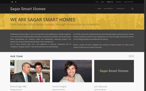 Screenshot of About Page sagarsmarthomes.co.uk - Sagar Smart Homes | About Sagar Smart Homes - captured Dec. 17, 2015