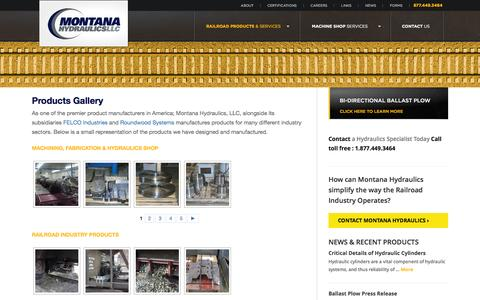Screenshot of Products Page montanahydraulics.com - Product Manufacturers | Product Manufacturer -  | Montana Hydraulics LLC - captured March 24, 2016