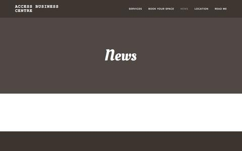 Screenshot of Press Page accessbusinesscentre.com - News — Access Business Centre - captured May 29, 2017
