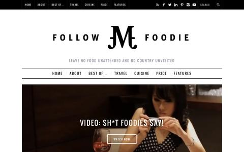 Screenshot of Home Page followmefoodie.com - Follow Me Foodie - captured Sept. 19, 2014