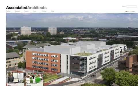 Screenshot of Home Page associated-architects.co.uk - Associated Architects - captured Oct. 4, 2014