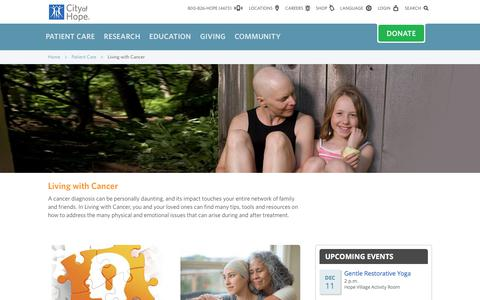 Living with Cancer Resources from City of Hope | Los Angeles | Southern California