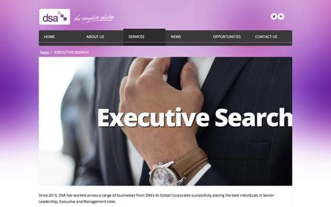 Screenshot of Services Page dsaexecutive.com - EXECUTIVE SEARCH «  DSA Executive - captured Aug. 5, 2018