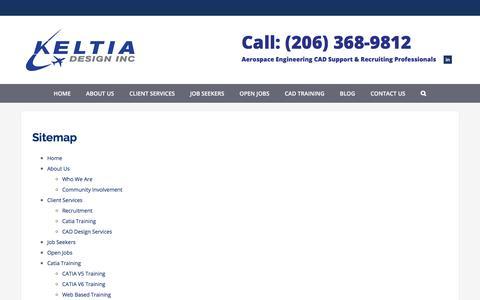 Screenshot of Site Map Page keltia-design.com - Sitemap | Keltia Design Inc. - captured Oct. 17, 2017