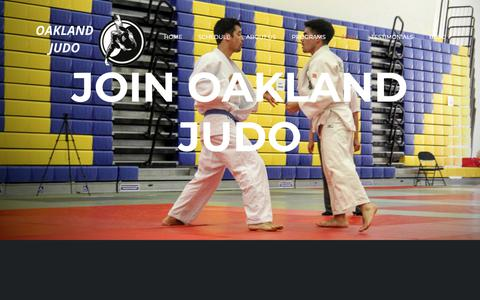 Screenshot of Signup Page oaklandjudo.com - Membership - Oakland Judo & Wrestling - captured Oct. 15, 2018
