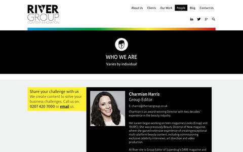 Screenshot of Team Page therivergroup.co.uk - Who We Are | Content Marketing Agency | The River Group - captured June 15, 2017