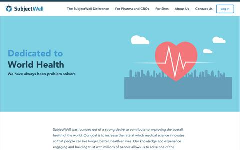 Screenshot of About Page subjectwell.com - About Us – Risk-Free Recruitment | SubjectWell - captured Sept. 21, 2018