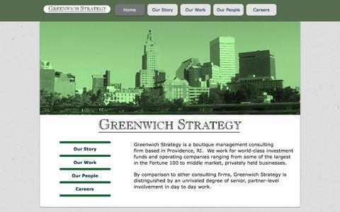Screenshot of Home Page greenwichstrategy.com - Greenwich Strategy: Boutique Strategy Consulting Firm - captured Dec. 15, 2015