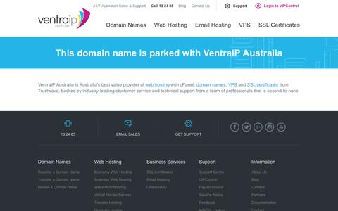 Domain Parked With VentraIP Australia