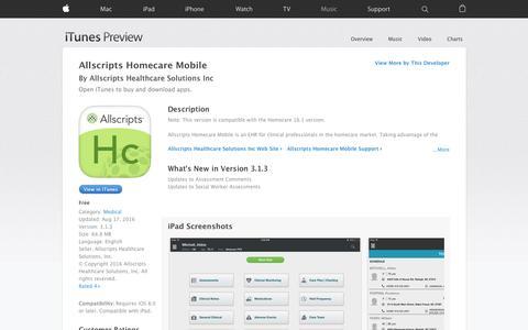 Allscripts Homecare Mobile on the App Store