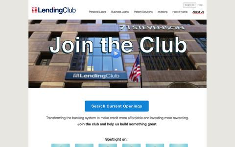 Screenshot of Jobs Page lendingclub.com - Careers - Lending Club - captured Nov. 18, 2015
