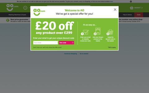 Screenshot of Login Page ao.com - ao.com - captured Aug. 21, 2016
