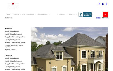 Screenshot of Services Page allamericanroofingandconstruction.com - All American Roofing & Construction | Services - captured Feb. 5, 2016