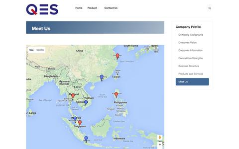 Screenshot of Maps & Directions Page qesnet.com - QES Group of Company - Meet Us - captured Jan. 23, 2016