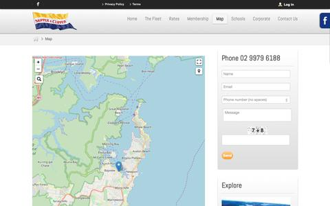 Screenshot of Maps & Directions Page skipperaclipper.com.au - Map - captured Nov. 7, 2018