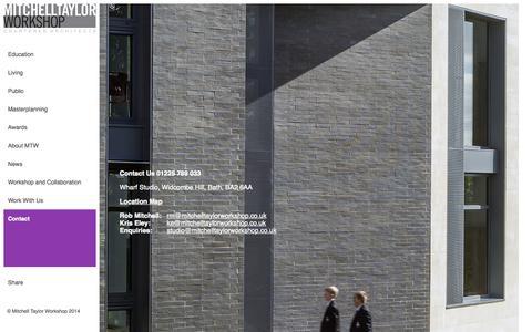 Screenshot of Contact Page mitchelltaylorworkshop.co.uk - Contact Us - captured Oct. 26, 2014