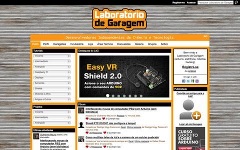 Screenshot of Home Page labdegaragem.com - Laboratorio de Garagem (arduino, eletrônica, robotica, hacking) - #42 - captured Sept. 22, 2014