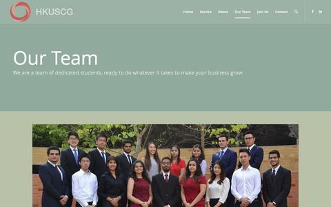Screenshot of Team Page hkuscg.com - Meet the Team - HKUSCG - captured Jan. 24, 2016