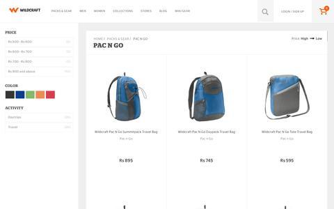 Screenshot of wildcraft.in - Buy Wildcraft Daypacks, Messenger, Sling & Laptop Bags Online - captured March 19, 2016