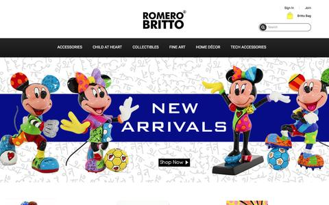 Screenshot of Home Page shopbritto.com - Home page - captured Dec. 25, 2016