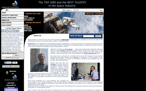Screenshot of About Page space-careers.com - About Space Careers, the leading space industry recruitment website. - captured Sept. 24, 2014