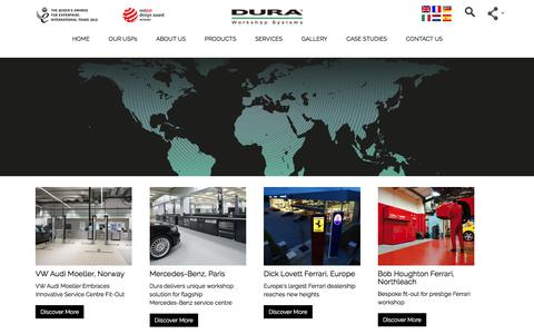 Screenshot of Case Studies Page dura.co.uk - Workshop Fit-Outs & Workshop Projects from Dura Limited - captured Oct. 13, 2017
