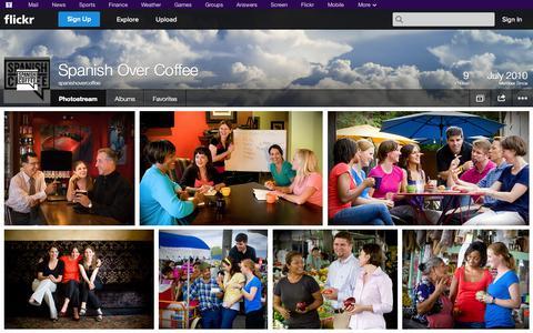 Screenshot of Flickr Page flickr.com - Flickr: spanishovercoffee's Photostream - captured Oct. 26, 2014