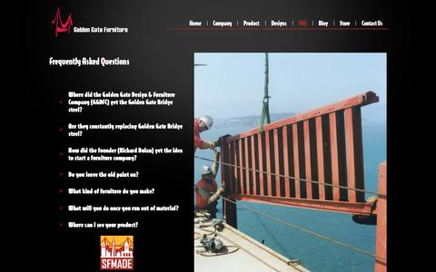 Screenshot of FAQ Page goldengatefurniture.com - Golden Gate Bridge Furniture Co.   Frequently Asked Questions - captured Aug. 26, 2017