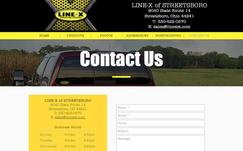 Screenshot of Contact Page linexst.com - LINE-X of Streetsboro, OH | Contact Us - captured Dec. 9, 2018