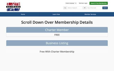Screenshot of Signup Page americanconsumernetwork.com - Join The American Consumer Network - Today! - captured Nov. 4, 2017