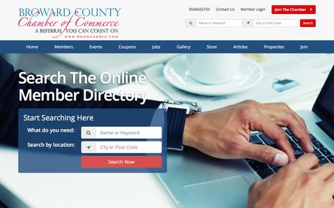Screenshot of Home Page browardbiz.com - Broward County Chamber Of Commerce Directory - Find Broward County Chamber Of Commerces - Broward County Chamber of Commerce - captured Oct. 11, 2017