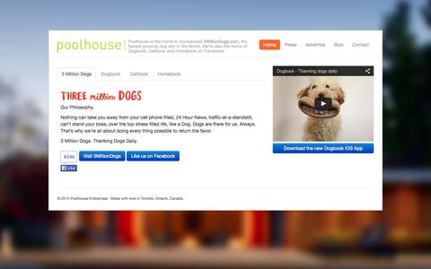 Screenshot of Home Page poolhouse.ca - Poolhouse » Home - captured Oct. 2, 2014