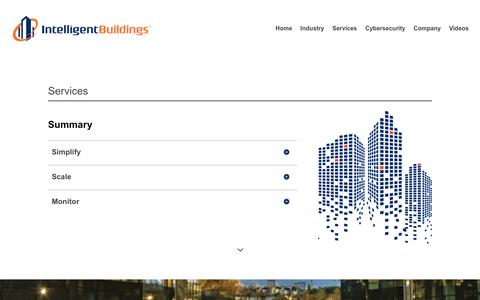 Screenshot of Services Page intelligentbuildings.com - Services - Intelligent Buildings - captured June 7, 2019