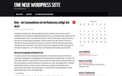 Screenshot of Home Page peer-spektive.de - Eine neue WordPress Seite - Peer-spektiven der See - captured April 4, 2017
