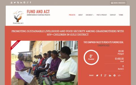 Screenshot of Home Page fundandact.org - » Fund And Act » Crowdfunding of Charitable Projects - captured Sept. 30, 2014