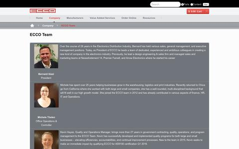 Screenshot of Team Page eccoconnectors.com - ECCO Team | Electronic Connector Company of Illinois - captured May 11, 2017