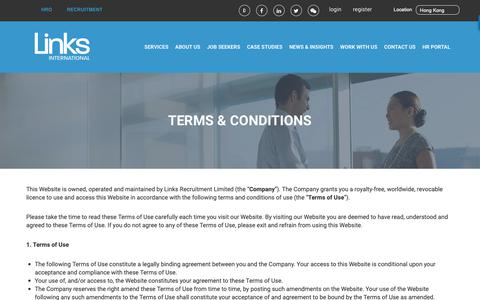 Screenshot of Terms Page linksinternational.com - Terms of Use - captured Dec. 8, 2018