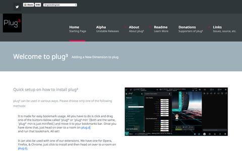 Screenshot of Home Page plugcubed.net - plug³ - Index - captured Jan. 4, 2017