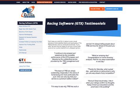 Screenshot of Testimonials Page trb.com.au - Testimonials - captured Oct. 9, 2014