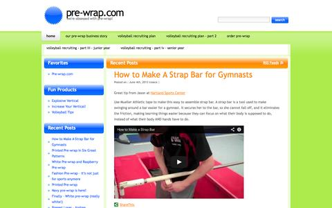 Screenshot of Blog pre-wrap.com - Pre-wrap - we're obsessed with all things pre-wrap! - captured Oct. 2, 2014