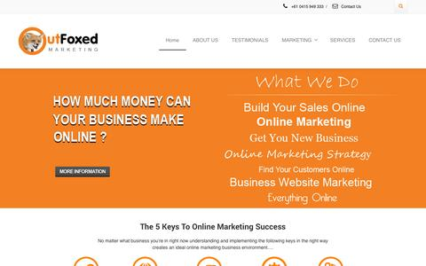 Screenshot of Testimonials Page outfoxedmarketing.com - Online Marketing For Business - Make More Money Using Online Marketing - captured Sept. 23, 2014