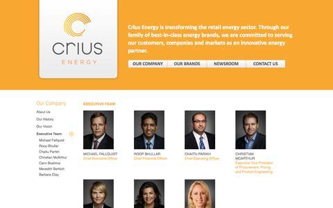 Screenshot of Team Page criusenergy.com - Crius Energy - captured Sept. 19, 2014