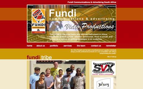 Screenshot of Team Page fundipro.co.za - Fundi Communications & Advertising South Africa - captured Oct. 6, 2014