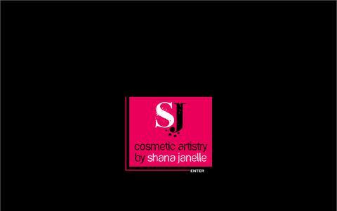 Screenshot of Home Page shanajanelle.com - Shana Janelle | Makeup + Hair Artist - captured Oct. 3, 2014