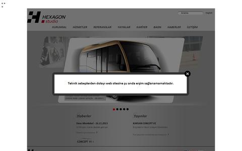 Screenshot of hexagonstudio.com.tr - Untitled Page - captured Oct. 11, 2014