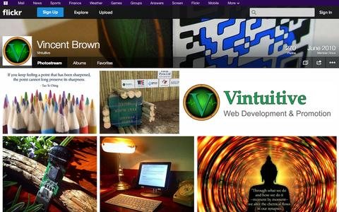 Screenshot of Flickr Page flickr.com - Flickr: Vintuitive's Photostream - captured Oct. 25, 2014