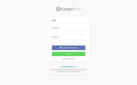 Screenshot of thegadgetflow.com - The Gadget Flow › Log In - captured March 19, 2016