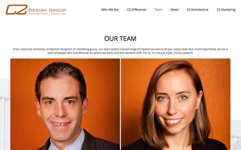 Screenshot of Team Page c2-designgroup.com - C2 Design Group | Team - captured July 9, 2016