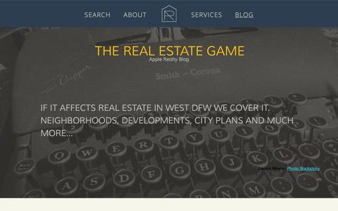 Screenshot of Blog applerealtytexas.com - BLOG | Apple Realty - captured Oct. 4, 2014